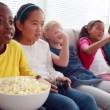 Children playing video games — Wideo stockowe #50510257