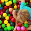 Boy playing in the ball pool — Stock Video #50510813