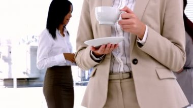 Business people having coffee — Stock Video