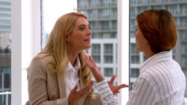 Angry businesswomen having an argument — Wideo stockowe