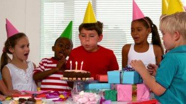 Friends celebrating a birthday — Stock Video