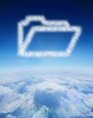 Cloud in shape of open file — Stock Photo