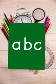 Composite image of abc letters — Stock Photo