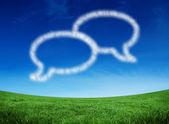 Cloud in shape of speech bubbles — Stock Photo