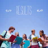 Word results against students — Stock Photo