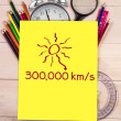 Composite image of distance to the sun — Stock Photo #51560847