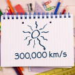 Composite image of distance to the sun — Stock Photo #51561289
