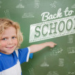 Composite image of back to school message — Stock Photo #51562335