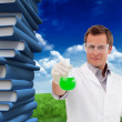 Scientist working with beaker — Stock Photo #51562441