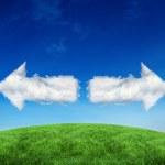 Composite image of cloud arrows — Stock Photo #51563743