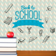 Back to school message with icons — Foto de Stock   #51565815