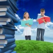 Brother and sister doing their homework — Stock Photo #51566769