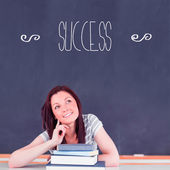 Word success against student thinking — Stock Photo