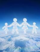Nube en forma de familia — Foto de Stock