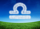 Cloud in shape of libra star sign — Foto Stock