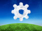 Composite image of cloud cog — Stock Photo