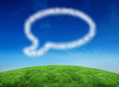 Cloud in shape of speech bubble — Stock Photo