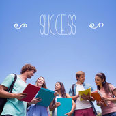 Word success against students — Stock Photo
