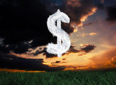 Composite image of cloud dollar — Stock Photo