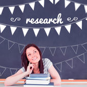 Research against student thinking in classroom — Stock Photo