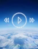 Nube en forma de menú del reproductor de música — Foto de Stock