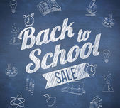 Back to school sale message — Stock Photo