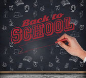 Hand writing with a chalk — Stock Photo