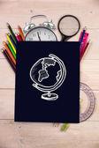Composite image of globe doodle — Stock Photo