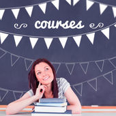 Courses against student thinking in classroom — Stock Photo