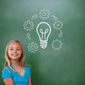 Composite image of idea and innovation graphic — Stock Photo