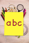 Composite image of abc — Foto de Stock
