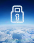 Cloud in shape of lock — Stock Photo