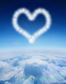 Cloud in shape of heart — Stock Photo