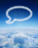 Cloud in shape of speech bubble — Стоковое фото