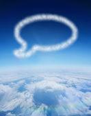 Nube en forma de burbuja de diálogo — Foto de Stock