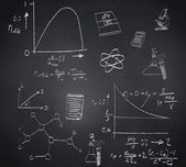 Composite image of math and science doodles — Stock Photo