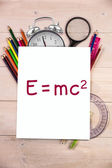 Composite image of theory of relativity — Stock Photo