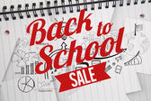 Composite image of back to school sale message — Foto Stock