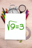 Composite image of square root of three — Stockfoto