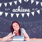 Achieve against student thinking in classroom — Stock Photo