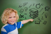 Composite image of education doodles — Stock Photo