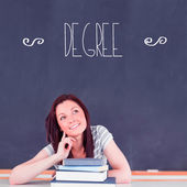 Word degree against student thinking — Stock Photo