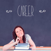 Word career against student thinking — Stock Photo
