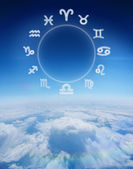 Composite image of zodiac chart — Stockfoto