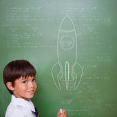 Composite image of rocket ship — Foto Stock