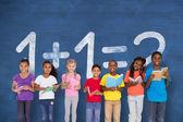 Pupils with maths question — Stok fotoğraf