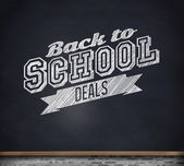 Composite image of back to school deals message — Stock Photo