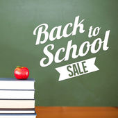 Composite image of back to school sale message — Stock Photo