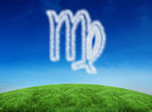 Cloud in shape of virgo star sign — Stock Photo
