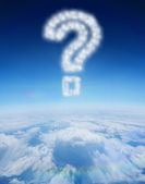 Cloud in shape of question mark — Stock Photo